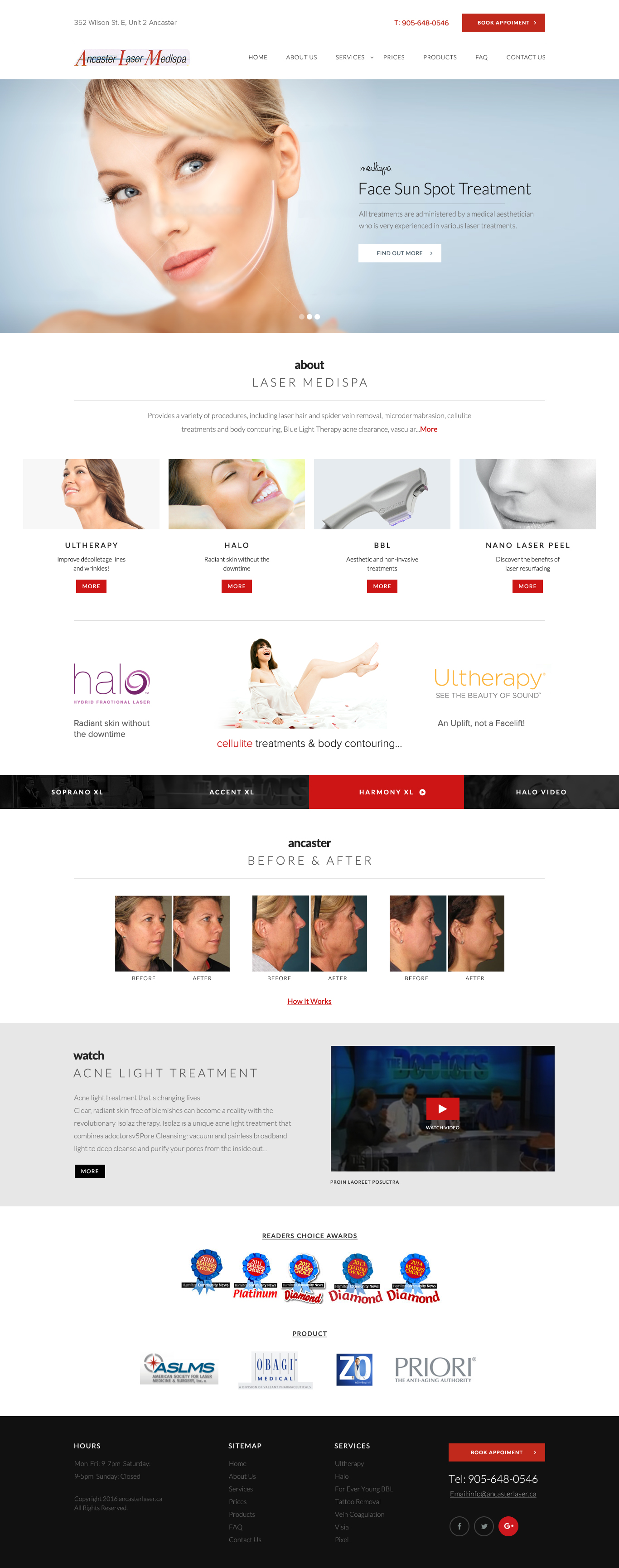 Autumnfire Launches New Website for Ancaster Laser Media Spa.